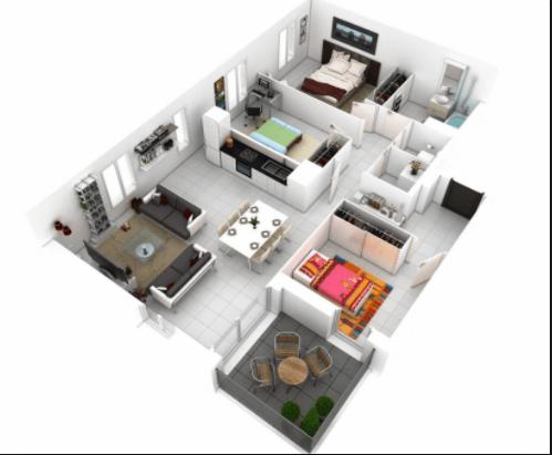 Contoh Denah Rumah Minimalis Type 54  100 contoh gambar denah rumah modern minimalis