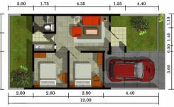 Denah rumah modern minimalis 14