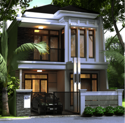 80 Contoh Rumah Minimalis 2 Lantai Modern Sederhana Tampak Depan 2