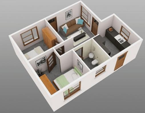 100 Denah Rumah Sederhana Modern Minimalis Terbaru 5 Desain Rumah