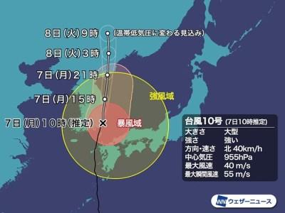 台風10号の水害対策