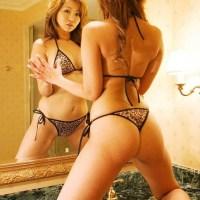 AV女優 KAORI(32)のヒョウ柄Tバックがエロい画像30枚