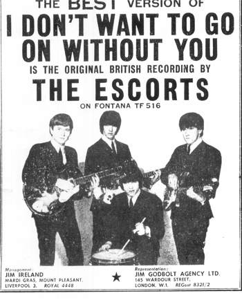 Image result for THE ESCORTS BAND