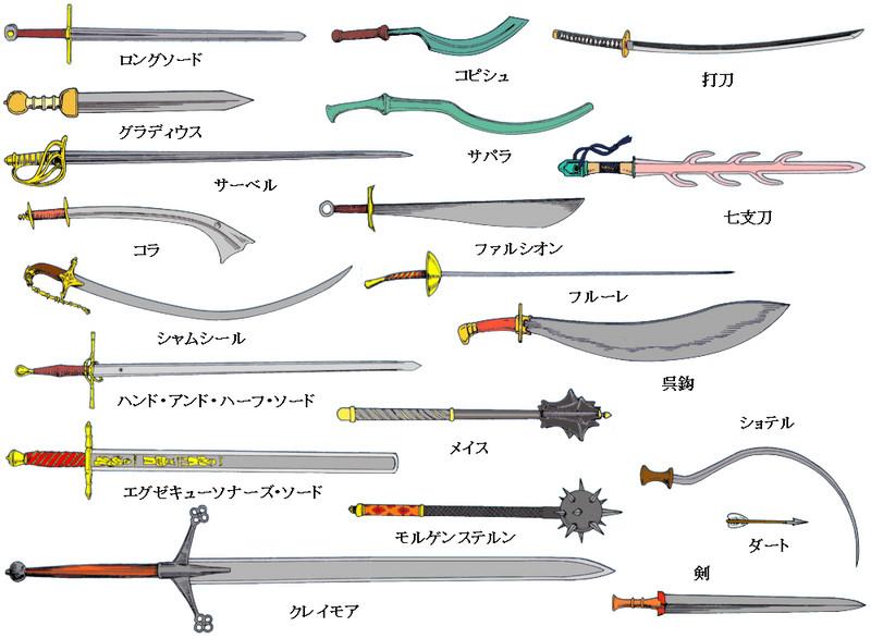 便利な畫像! : これは剣?刀?サーベル?棒狀の刃物の形と ...