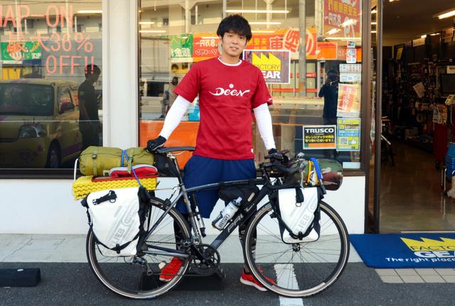 津田恒美_長男_自転車_旅