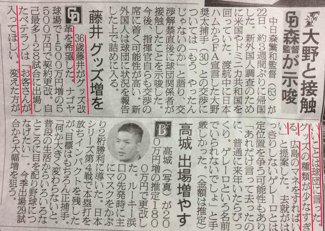 中日藤井広島カープグッズ真似
