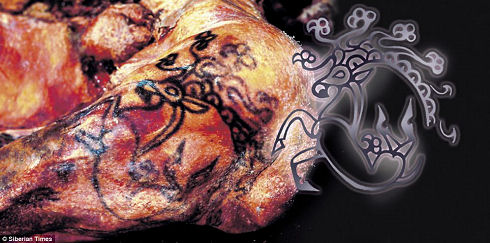 tattoos of a Siberian princess 01