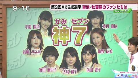 【AKB48G】歴代問題児の神7を挙げるとしたら誰?