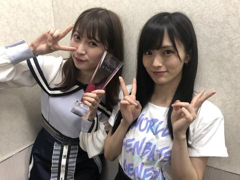 【朗報】AKB48総選挙裏配信で山本彩、中井りかに対し一言も喋らない
