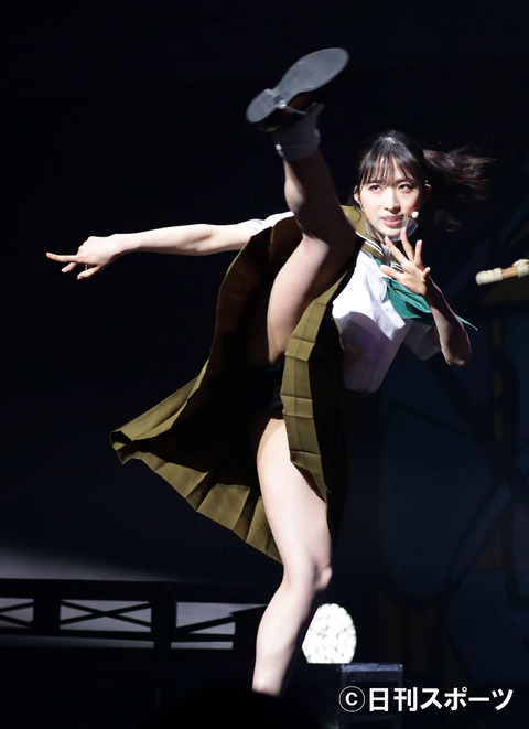 【悲報】AKB48小栗有以ちゃん、日刊スポーツにスカートの中を激写されてしまう