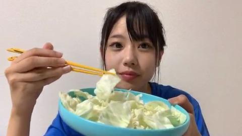 【STU48】瀧野由美子さんの晩ごはんが質素www