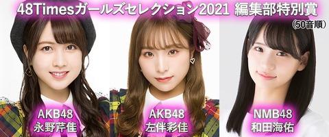 【AKB48】48Timesガールズセレクション2021各賞発表