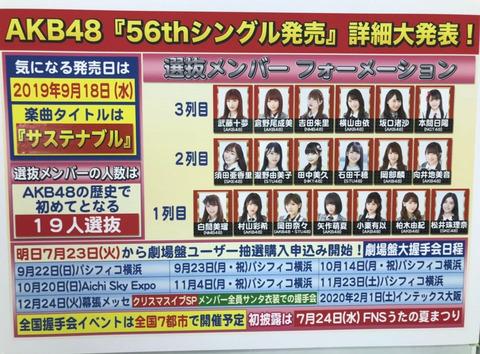 【AKB48】56thシングル「サステナブタ」矢作センターで100万売れんの?ヲタからお布施集められんの?