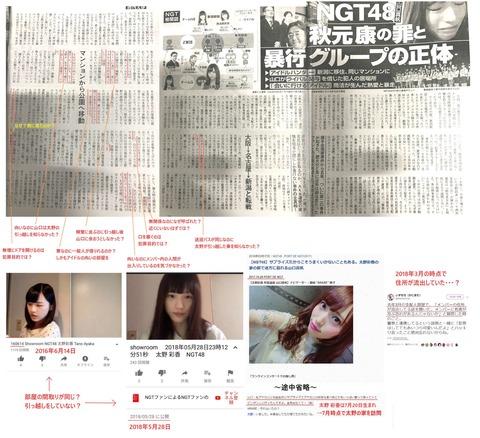 【NGT48暴行事件】太野彩香と西潟茉莉奈が黒メンなのが確定したきっかけって・・・