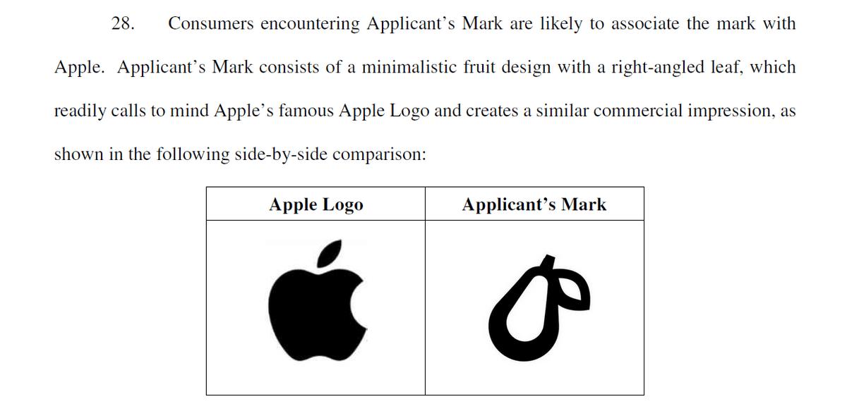 画像】 Apple、梨のロゴがリンゴに似ているとして異議申し立て - はて ...