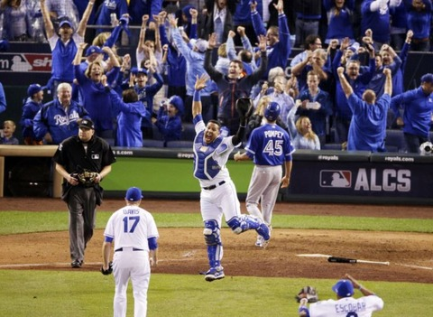 Salvy ALCS Celebration