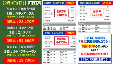 29【BETA】的中報告