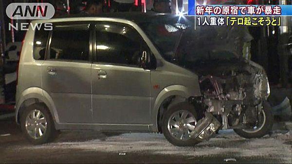 【東京原宿】竹下通り暴走、20代男「テロ起こした」=8人負傷、1人意識不明