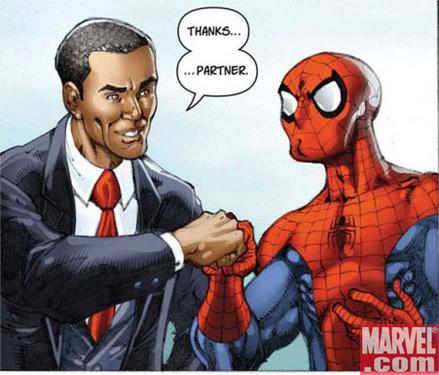 スパイダーマン-バラク・オバマ大統領