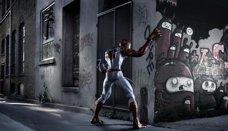 ヒーロー-アート写真-スパイダーマン