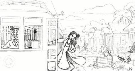プリンセスと魔法のキス-セル画-1