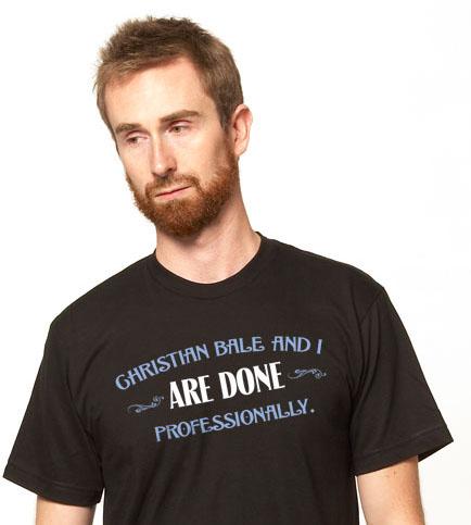 クリスチャン・ベール-Tシャツ