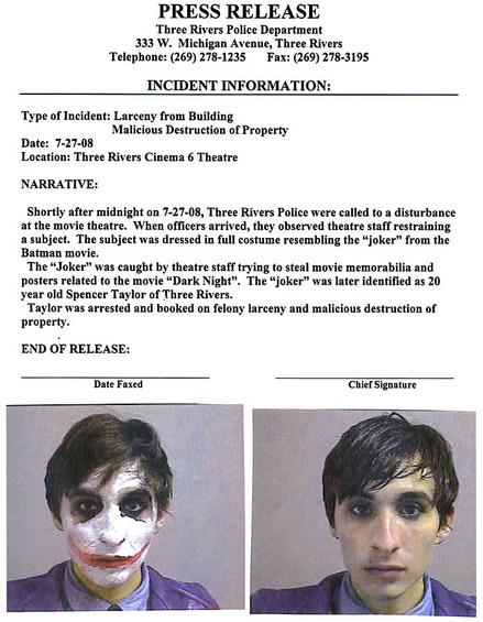 バットマン-ジョーカー-逮捕写真