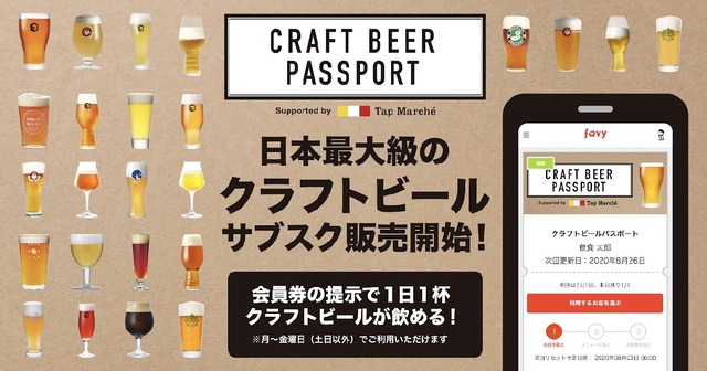 「CRAFT BEER PASSPORT Supported by Tap Marché」