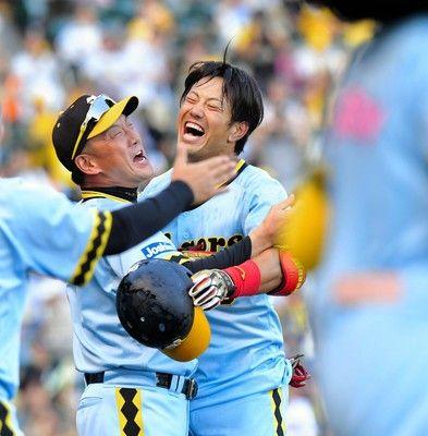 阪神が今季初のサヨナラ勝ち中谷が殊勲打3位浮上