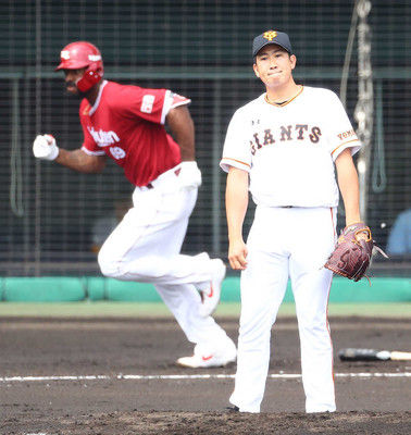 巨人・菅野、今季初実戦は2回2失点楽天ブラッシュに一発浴びる