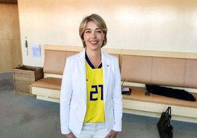 スウェーデンW杯決勝T進出を後押し 女性大臣ユニ姿が急拡散