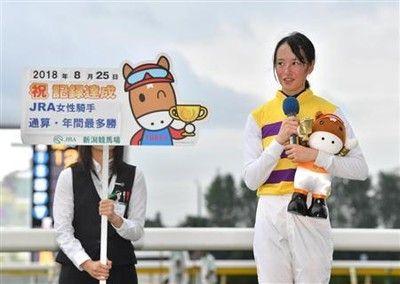 藤田菜七子がJRA女性騎手歴代最多35勝目!年間最多勝利記録も更新