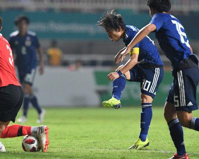 <アジア大会>0-0で延長戦へサッカー男子決勝韓国戦