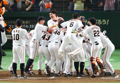 巨人長野の劇的サヨナラ弾で3位再浮上菅野は球団最多タイのシーズン7度目完封