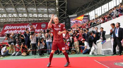 イニエスタ「たくさん練習して学ぶ」神戸で歓迎イベント