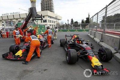 """フェルスタッペンとリカルドに叱責処分。""""同士討ち""""の原因は両者にあり/F1アゼルバイジャンGP"""