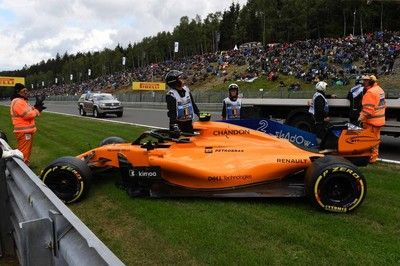 【タイム結果】F1ベルギーGP FP3/バンドーンがクラッシュ。トップタイムはベッテルがマーク