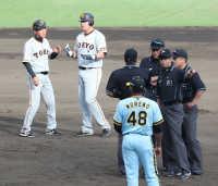 巨人・大西三塁コーチも困惑珍レフトゴロ併殺「走者は責められない」