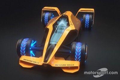 2050年のF1マシンは最高時速500km?マクラーレンが想像する未来のグランプリ