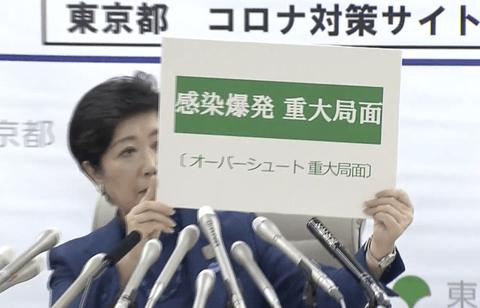 新型コロナウイルス 東京都 小池百合子 都知事 重大局面 感染爆発に関連した画像-01