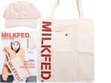 mini特別編集 MILKFED. SPECIAL BOOK Cap & Tote Bag 《付録》 ロゴ刺繍キャップ&トートバッグ