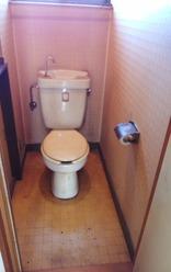 1階トイレ(リフォーム前):貸家2号