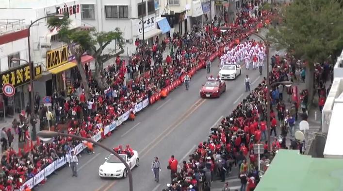 沖縄優勝パレード10