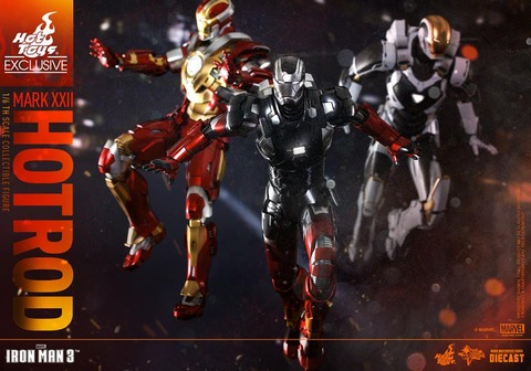 Hot-Toys-Iron-Man-3-Mark-XXII-Hot-Rod-Armor-012