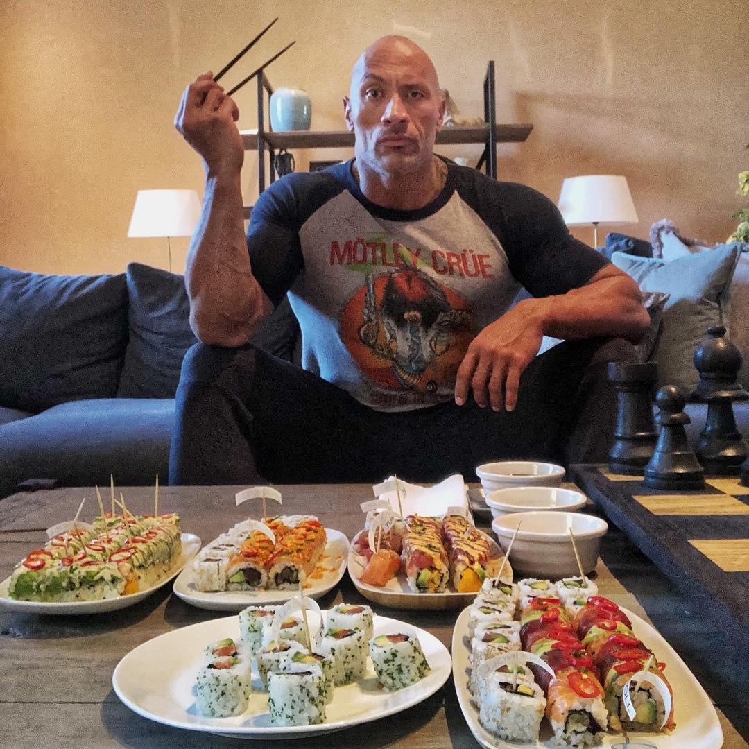 海外芸能】米俳優 ドウェイン・ジョンソンが寿司100貫を爆食い ...