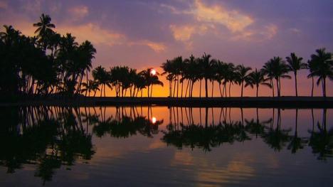 130611コナ・コーストの夕暮れ@アメリカ ハワイ島