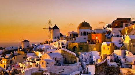 130421イアの夕暮れ@ギリシャ サントリーニ島