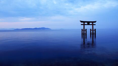 140724白鬚神社鳥居@滋賀 琵琶湖