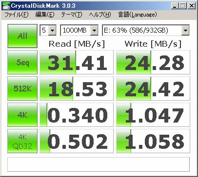 CrystalDiskMark USB2.0