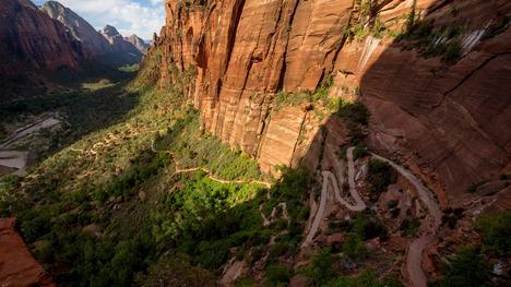 130825ザイオン国立公園の登山道@アメリカ ユタ州